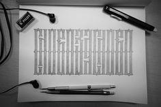 Слово за слово #каллиграфия #кириллица #вязь #леттеринг #calligraphy #lettering #art #vyaz #cyrillic #sketch #drawing #type #textura #typography #script #dailytype #typedaily #design #typographyinspired #letters #goodtype #typegang #sketchbook