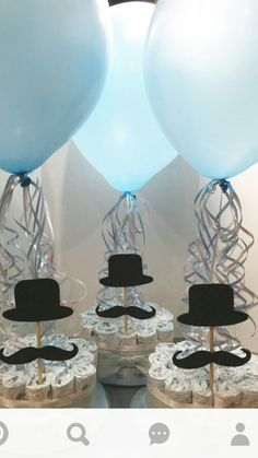 Diaper centerpieces made to order for a mustache themed baby shower. We make custom designs to fit your theme. Lil Man Baby Shower, Idee Baby Shower, Shower Bebe, Boy Baby Shower Themes, Baby Shower Gender Reveal, Baby Shower Parties, Baby Shower Gifts, Baby Showers, Diaper Centerpiece