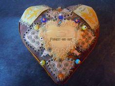 WW1 WORLD WAR ONE FORGET ME NOT SWEETHEART HEART PIN CUSHION | eBay