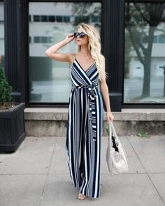Striped jumpsuit-Top must have summer outfits – Just Trendy Girls