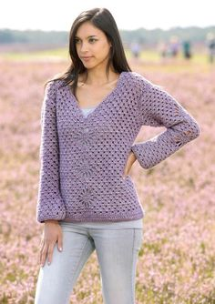 How cool is this design Crochet Pullover in Scheepjes Stone Washed XL - Digital Version