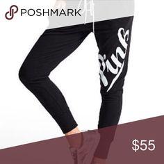 VSPink gym pant VSPink Lace Up Collegiate Pant nwot ❤️❤️❤️❤️🙂🙂🙂😍😍😍 PINK Victoria's Secret Pants Leggings