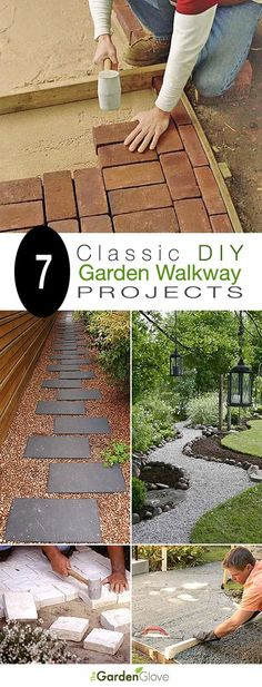 7 Classic DIY Garden Walkway Projects With Tutorials! 7 Classic DIY Garden Walkway Projects With Tutorials! Diy Garden, Dream Garden, Lawn And Garden, Garden Paths, Walkway Garden, Garden Care, Tyre Garden, Garden Seat, Backyard Projects
