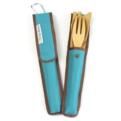 "$12.95 RePEaT Utensil & Holders Re-Usable give plastic bottles a second shot at a useful life and an opportunity to stay out of our landfills. Made out of RPET (recycled PET plastic), we like to call it ""RePEaT"" because it lets plastic reincarnate into something kinder and gentler. Inside you will find a full set of bamboo flatware and chopsticks, and the case has a handy carabiner on the back that lets you clip and carry a fork, knife, spoon and chopsticks wherever they may roam. Perfect…"