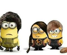 k .. i just laughed so hard   my two favorite things ; the hunger games & minions ♥️