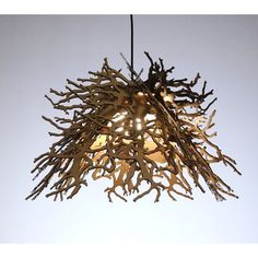 Winter Branches Light Brown  by Brandon Perhacs.... Inspiration for kids outdoor themed bedroom.