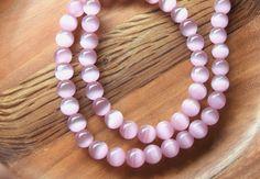 5 Perles rondes oeil de chat mexicain jade 8mm PGM201602 : Perles pierres Fines…