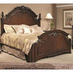 King Panel Headboard In Brown Pecan | Nebraska Furniture Mart