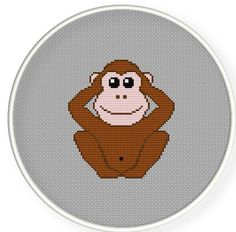 Buy 4 get 1 free ,Buy 6 get 2 free, Cross stitch pattern,Cross-Stitch PDF,three monkeys , Not listening , zxxc0192. $4.00, via Etsy.