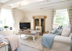 The Retreat, Sandsend.  Aptly named, this stunning chocolate-box holiday cottage on the Yorkshire Coast is the perfect honeymoon location...  So romantic!  #romantic #cottages #Yorkshire