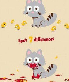 Spot 7 differences.... LOL LOL. @Lauren Kelsi