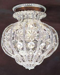 florentine crystal ceiling light
