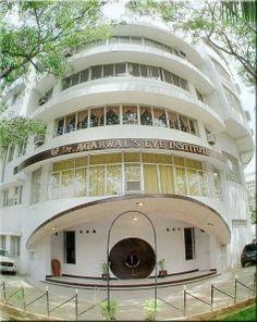 Opthamologic hospital shaped like an eye in Chennai.    http://futurearchitects.wordpress.com/