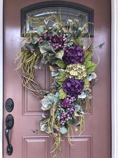 Hydrangea Wreath Summer Wreath Spring Wreath Purple