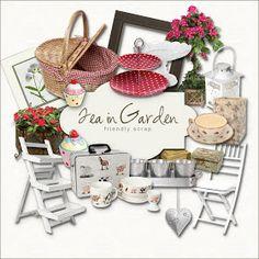 Far Far Hill: Freebies Kit - Tea in Garden