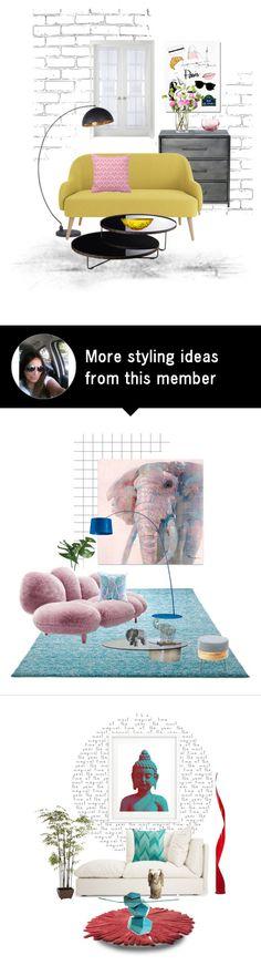 """""""#1159"""" by mussedechocolate on Polyvore featuring interior, interiors, interior design, home, home decor, interior decorating, Garance Doré, Liz Claiborne, MoMo and Modloft"""
