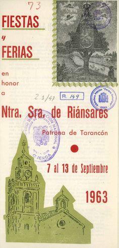 Fiestas de Tarancón (Cuenca) en honor a la Virgen de Riánsares del 7 al 13 de septiembre de 1963 Se celebra la I Feria Comarcal de Maquinaria Agrícola #Fiestaspopulares #Tarancon #Cuenca