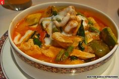 A bowl of Thai red curry, served at the Dusit Thani Manila Hotel's Benjarong Royal Thai Restaurant.