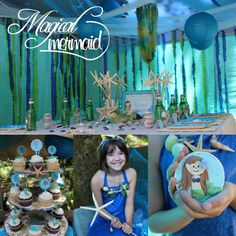 mermaid party...love the seaweed in the tent