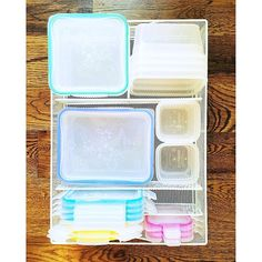 Our favorite way to organize food storage 🍉 White mesh organizer listed on our…