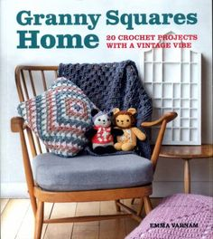 Cover image for Granny squares home : 20 crochet projects with a vintage vibe