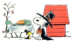 Happy Thanksgiving from Woodstock and Snoopy!