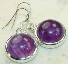 Amethyst Gemstone Sterling Silver Earrings : Wholesale Amethyst Earrings