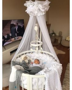 @ Unknown Dm for credits Baby Crib Bedding, Baby Bedroom, Baby Boy Rooms, Baby Room Decor, Baby In Crib, Bed For Baby, Best Baby Cribs, Baby Boy Cribs, Baby Room Design