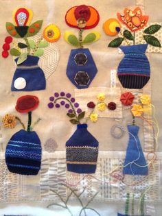 Image result for sue spargo indigo vases