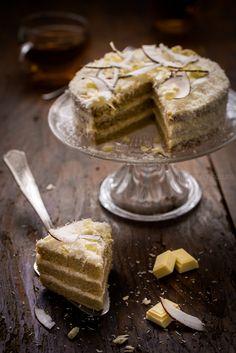 Layer cake noix de coco et chocolat blanc | Jujube en cuisine