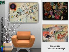 Sims 4 - Abstract Paintings