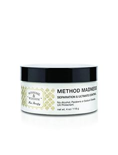 Method Madness 4 Oz Jar Hair Paste Texturizer Styling For Women Men Kids Texture Anti Frizz Cream Balm Soft Wax No Alcohol Without Parabens UV Protection Flexible Hold Cruelty Free Hair Care Products >>> Check out @