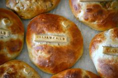 Are these not the most fantastic breads honoring Julia Child? How clever!