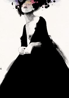 Nothing is entirely black and white in Conrad Roset's bewitching series of nymphs...