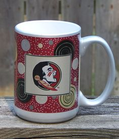Florida State Seminoles FSU Large Coffee Mug Cup Garnet Gold Silver 16 Oz  Unused
