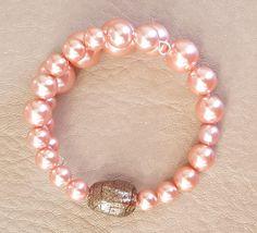 Pink Memory Wire Stainless Steel Bracelet. by KalaaStudio on Etsy