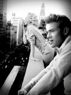 James Dean and Marilyn Monroe. #JetsetterCurator