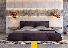 Reparou como o cinza está em alta na decoração? Vem conferir as ideias e inpirações de decoração de quarto de casal com tons de cinza.