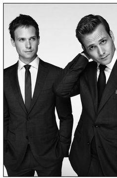 Loving Suits! Patrick J. Adams and Gabriel Macht.