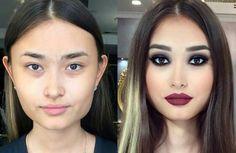 Wedding makeup for fair skin brides eyebrows ideas Amazing Makeup Transformation, Fair Skin Makeup, Contour Makeup, Hair Makeup, Power Of Makeup, Love Makeup, Beauty Make-up, Hair Beauty, Dark Hair