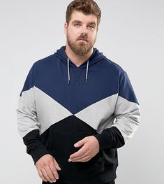 Another Influence PLUS Paneled Pull Over Hoodie - Navy