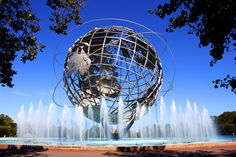 The Unisphere - Pinned by Mak Khalaf The Unisphere is a 12-story high spherical stainless steel representation of the Earth. Located in Flushing MeadowsCorona Park in the borough of Queens New York City the Unisphere is one of the borough's most iconic and enduring symbols. City and Architecture  by PapoMena