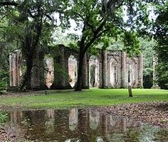 Old Sheldon Church Ruins  -  Beaufort SC