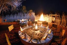 Bush Dinner at Kempinski Mokuti Lodge - Etosha