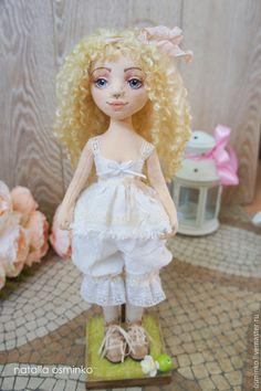 Купить Катя. Текстильная подвижная кукла. Бохо. Авторская кукла - бежевый, авторская кукла