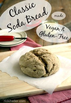 This classic Soda Bread tastes like hte one you remember--but #glutenfree and #vegan! @rickiheller