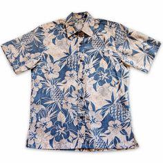 Sweet Pineapple Blue Hawaiian Reverse Shirt