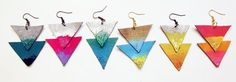 painted leather earrings! (would look great made of fused glass, too)