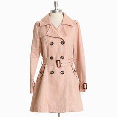 Lovett Arbor Pink Trench Coat