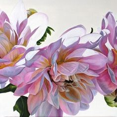 Dahlias by Freya Powell. Paintings for Sale. Easy Flower Painting, Peony Painting, Acrylic Painting Flowers, Fruit Painting, Watercolor Flowers, Flower Art, Watercolor Paintings, Oil Paintings, Macro Flower